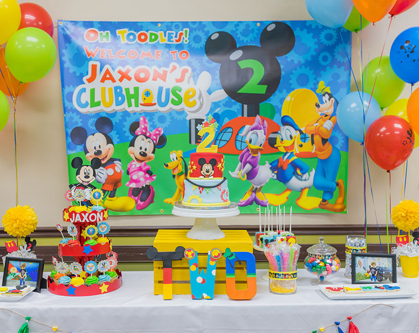 Phenomenal Jaxons Mickey Mouse Club House Party Growing With The Grahams Funny Birthday Cards Online Hendilapandamsfinfo